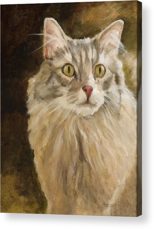 Animal Acrylic Print featuring the painting Chessie by Jimmie Trotter