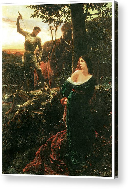 Frank Dicksee Acrylic Print featuring the painting Chivalry by Frank Dicksee