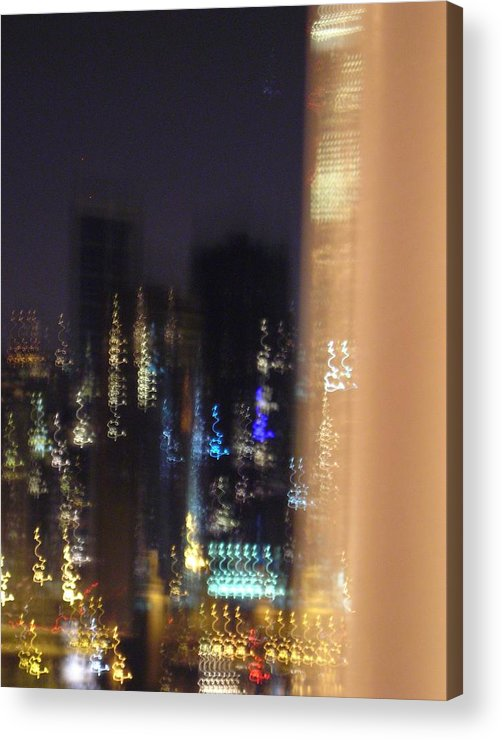 City Acrylic Print featuring the photograph City Flames by Peter Mowry