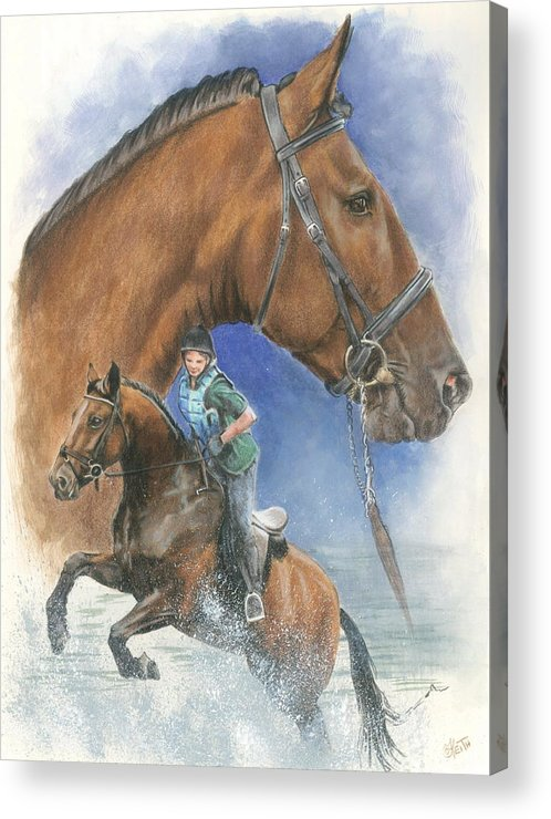 Hunter Jumper Acrylic Print featuring the mixed media Cleveland Bay by Barbara Keith