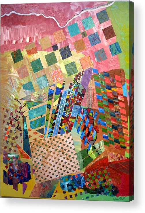 Crystal Acrylic Print featuring the painting Crystal Energy by Eric Devan