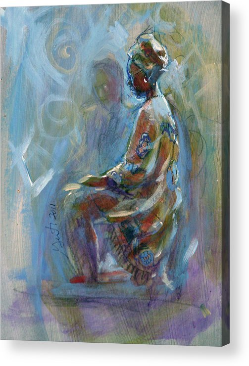 Slave Acrylic Print featuring the painting Dashiki by Gertrude Palmer
