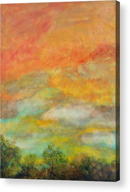 Landscape Acrylic Print featuring the painting Delight by Marie Baehr