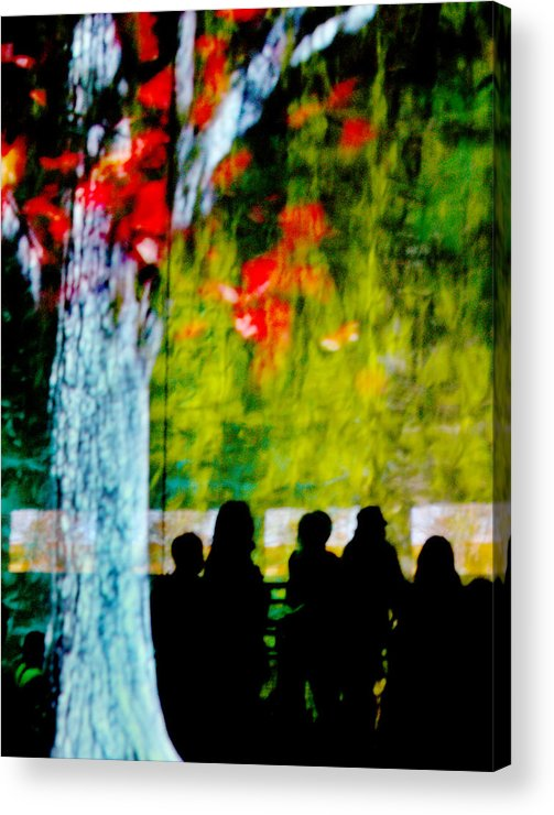 Sillhouettes Acrylic Print featuring the photograph Die Zuschauer - The Spectators by Linda McRae