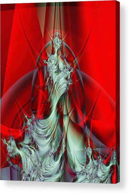 Fractal Acrylic Print featuring the digital art Diva by Frederic Durville