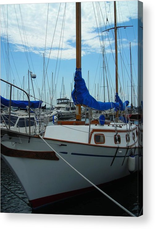 Boat Acrylic Print featuring the photograph Docking Bay by Peter Mowry