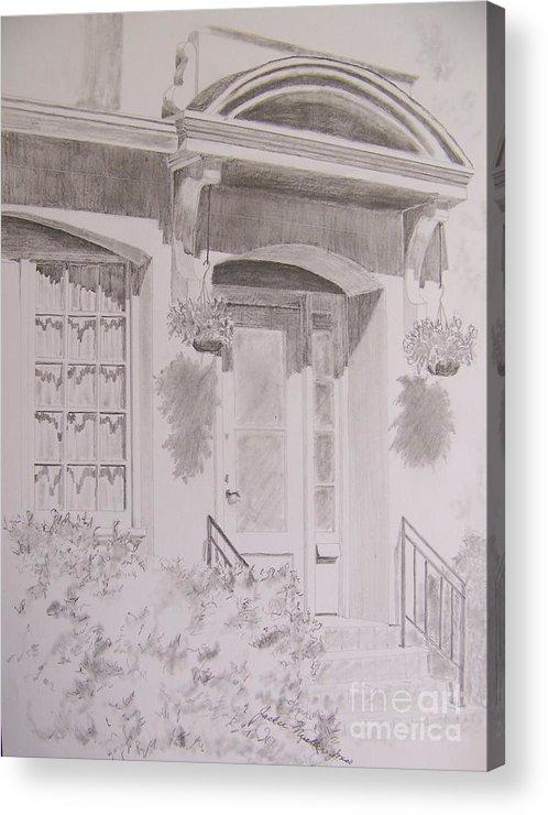 Doorway Acrylic Print featuring the drawing Doorway by Jackie Mueller-Jones