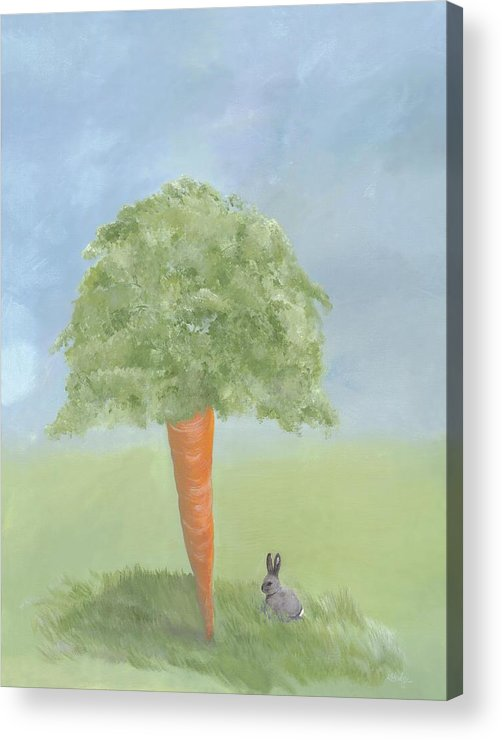Bunny Acrylic Print featuring the painting Dream Big by Kimberly Hodge