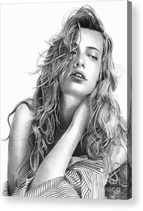 Vanderpool Acrylic Print featuring the drawing Dress Shirt 2 by David Vanderpool