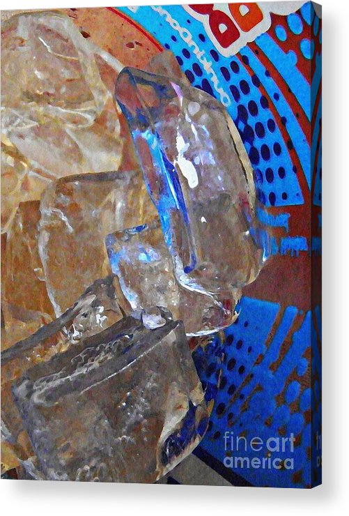 Abstract Acrylic Print featuring the photograph Dunkin Ice Coffee 20 by Sarah Loft
