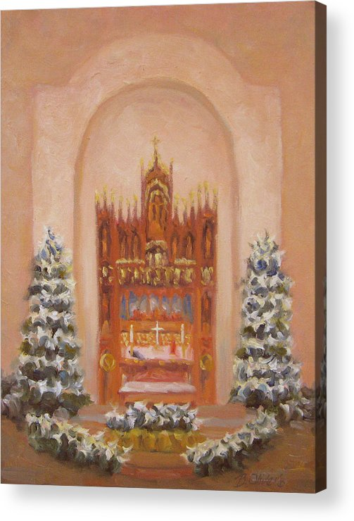 Church Acrylic Print featuring the painting Easter At St. Martins by Bunny Oliver
