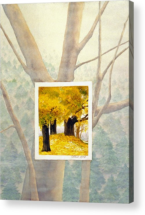 Autumn Acrylic Print featuring the painting Eastern Autumn by Nancy Ethiel