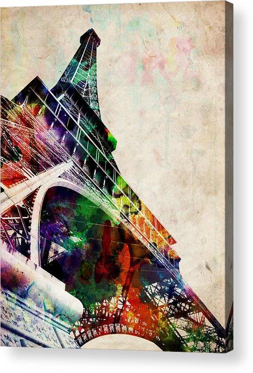 Eiffel Tower Acrylic Print featuring the digital art Eiffel Tower by Michael Tompsett