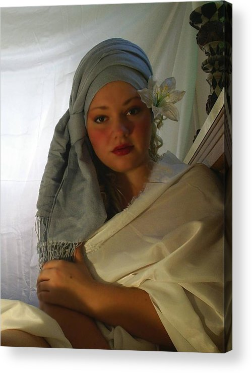 Woman Acrylic Print featuring the photograph Evenings Thoughts by Scarlett Royal