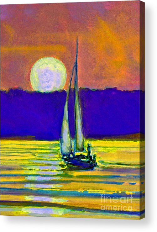 Sailing Moonlight Acrylic Print featuring the painting Eventful Evening I by Kip Decker