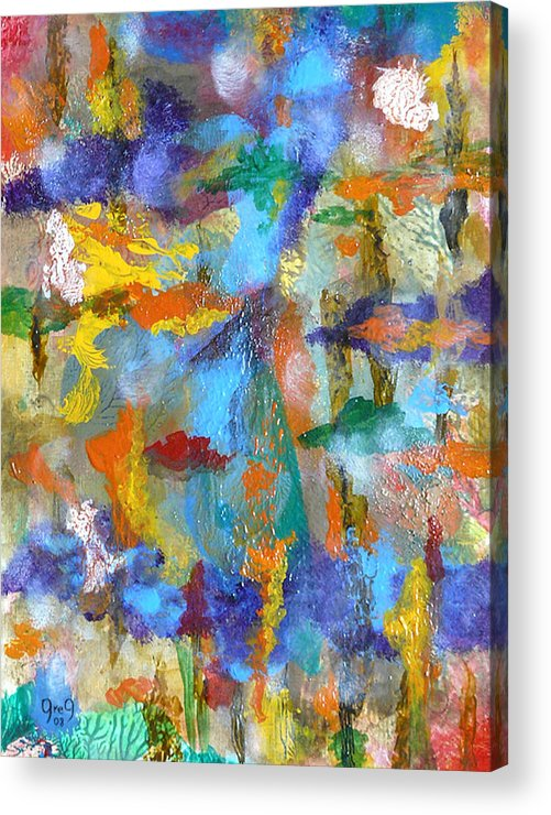 Fado Acrylic Print featuring the painting Fado 2 by Greg Gierlowski