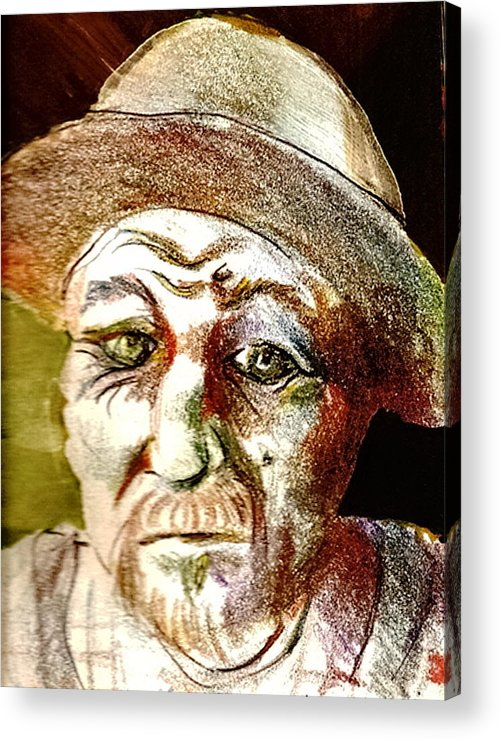 Farmer Acrylic Print featuring the drawing Farmer by Dannielle Murphy