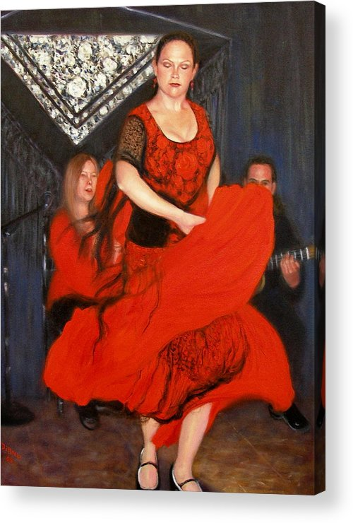 Realism Acrylic Print featuring the painting Flamenco 8 by Donelli DiMaria