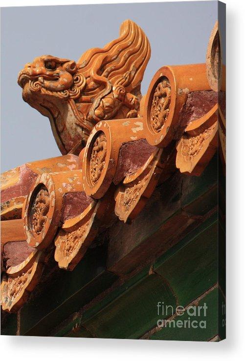 Forbidden City Acrylic Print featuring the photograph Forbidden City Guardian by Carol Groenen