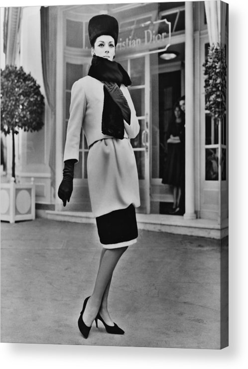 History Acrylic Print featuring the photograph French Designer, Christian Dior by Everett