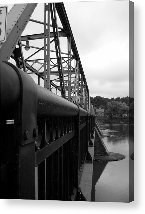 Bridges Acrylic Print featuring the photograph Frenchtown Bridge by Amanda Vouglas