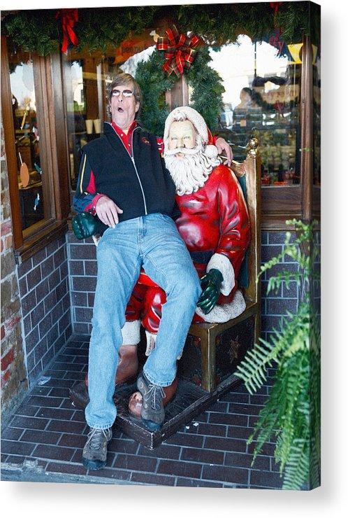 Gay Acrylic Print featuring the photograph Gay Santa by John Toxey