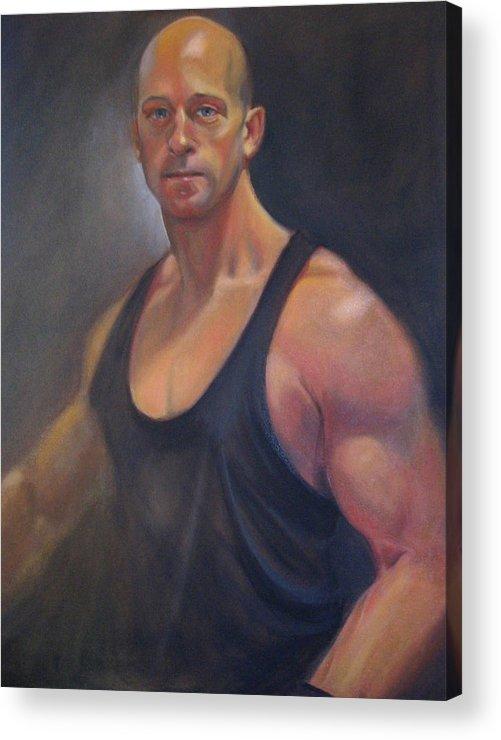 Acrylic Print featuring the painting Glenn by Kaytee Esser