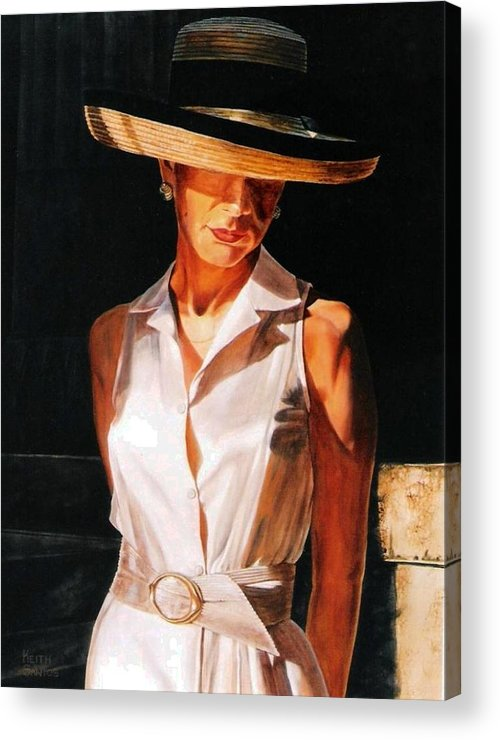 Hat Acrylic Print featuring the painting Golden Light by Keith Gantos