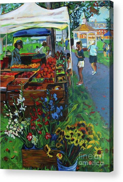 Grafton Acrylic Print featuring the painting Grafton Farmer's Market by Allison Coelho Picone