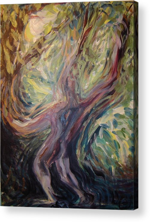 Figure Acrylic Print featuring the painting Green Man by Kasi Kennedy