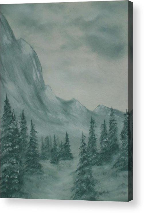 Grey Acrylic Print featuring the painting Grey Day by Jean Billsdon