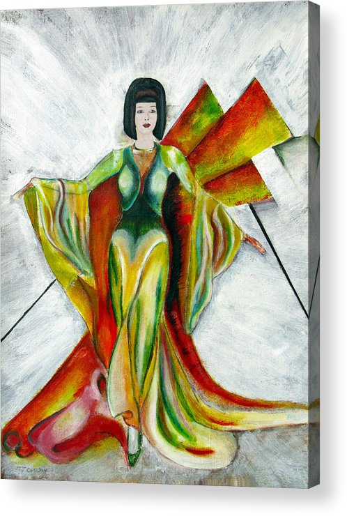 Dress Acrylic Print featuring the painting Here Comes The Sun by Tom Conway