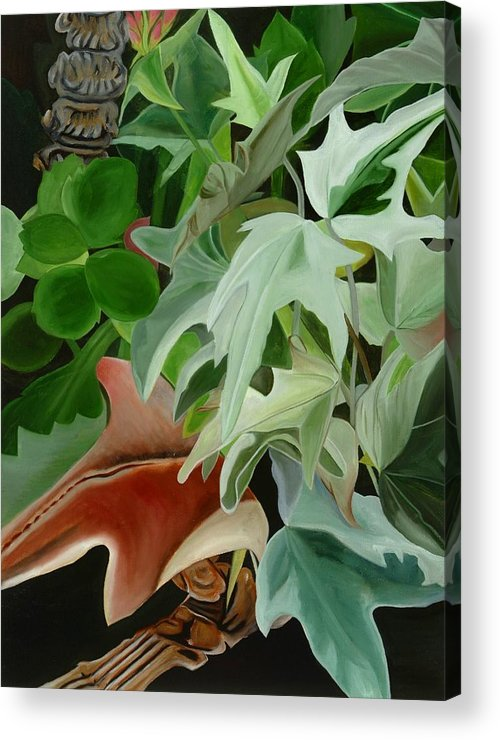Floral Acrylic Print featuring the painting Hide'n Seek IIi by Sunhee Kim Jung