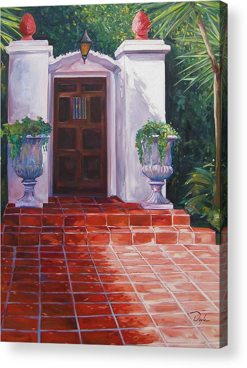 Doorway Acrylic Print featuring the painting Howard by Karen Doyle