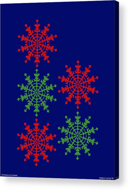 Acrylic Print featuring the digital art Ice Crystals by Al