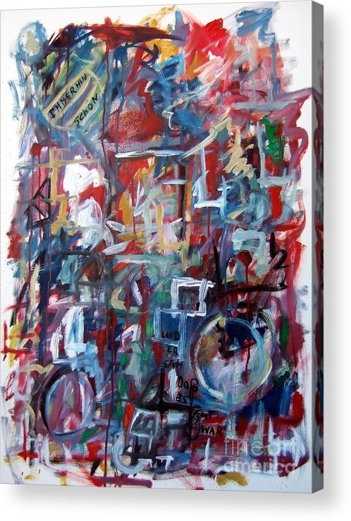 Abstract Acrylic Print featuring the painting Immerhin Schoen by Michael Henderson