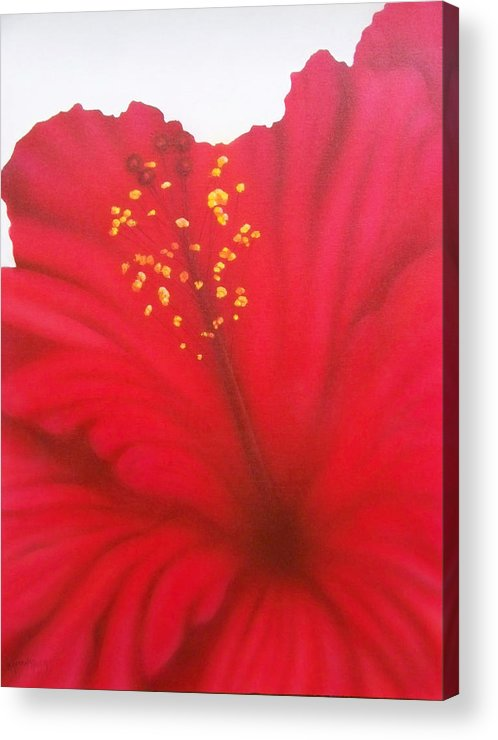 Flowers Acrylic Print featuring the painting In My Garden 27 by Brett McGrath