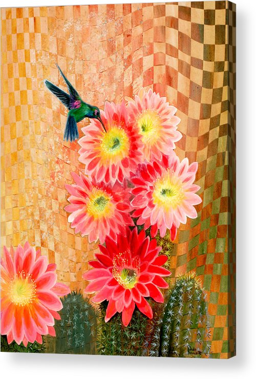 Hummingbird Acrylic Print featuring the painting Irresistible by Linda L Doucette