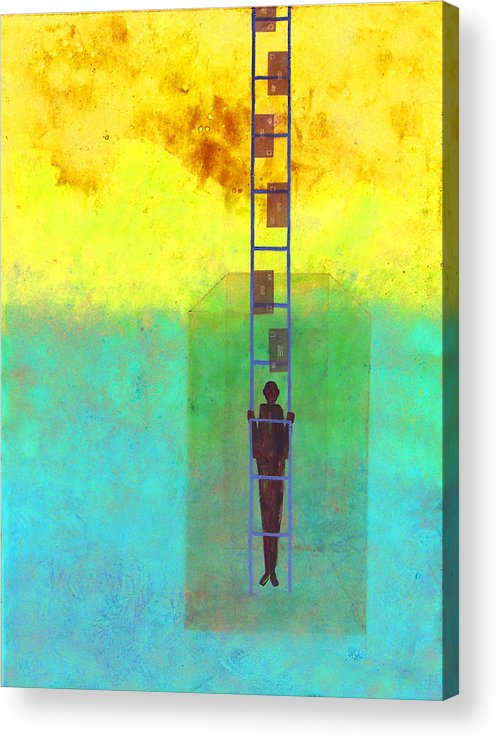 Judaica Acrylic Print featuring the painting Jacob Everyman by Mordecai Colodner