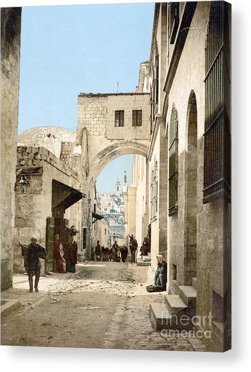 1900 Acrylic Print featuring the photograph Jerusalem: Via Dolorosa by Granger