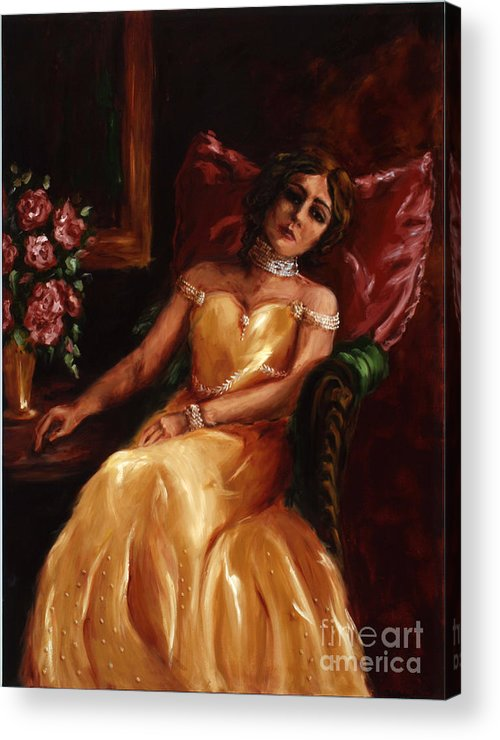Woman Acrylic Print featuring the painting Lady Catherine by Robin DeLisle