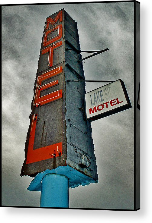 Color Acrylic Print featuring the photograph Lake Motel by Curtis Staiger