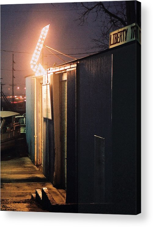 Night Scene Acrylic Print featuring the photograph Liberty by Steve Karol