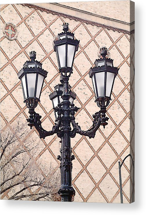 Urban Acrylic Print featuring the photograph Lightpost by Carl Perry