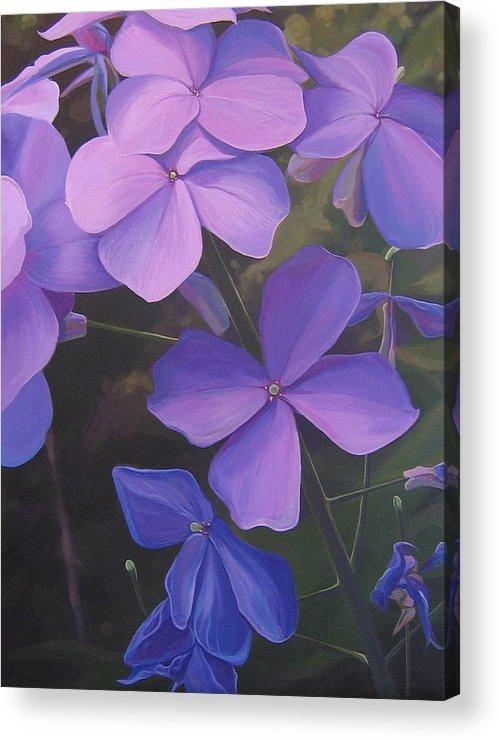 Closeup Of Colorado Wildflower Near Durango Acrylic Print featuring the painting Lush Life by Hunter Jay