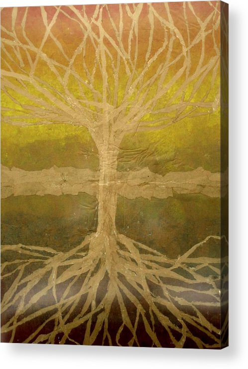 Abstract Acrylic Print featuring the painting Meditation by Leah Tomaino