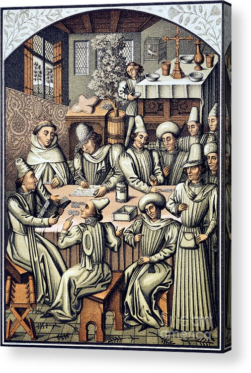 15th Century Acrylic Print featuring the photograph Merchants Paying Taxes by Granger