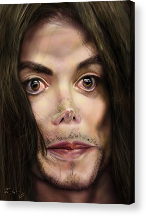Michael Jackson Acrylic Print featuring the painting Michaels Magnum Opus 1 by Reggie Duffie
