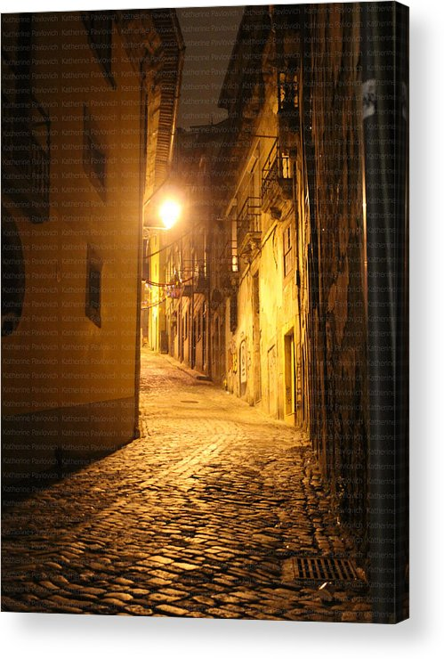 Portugal Acrylic Print featuring the photograph Midnight In Porto by Kate Pavlovich