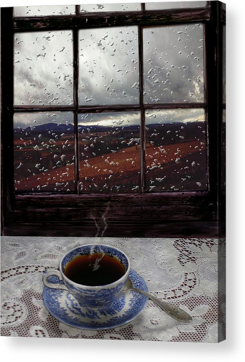 Landscape Acrylic Print featuring the digital art Mornings Promise by Evelynn Eighmey